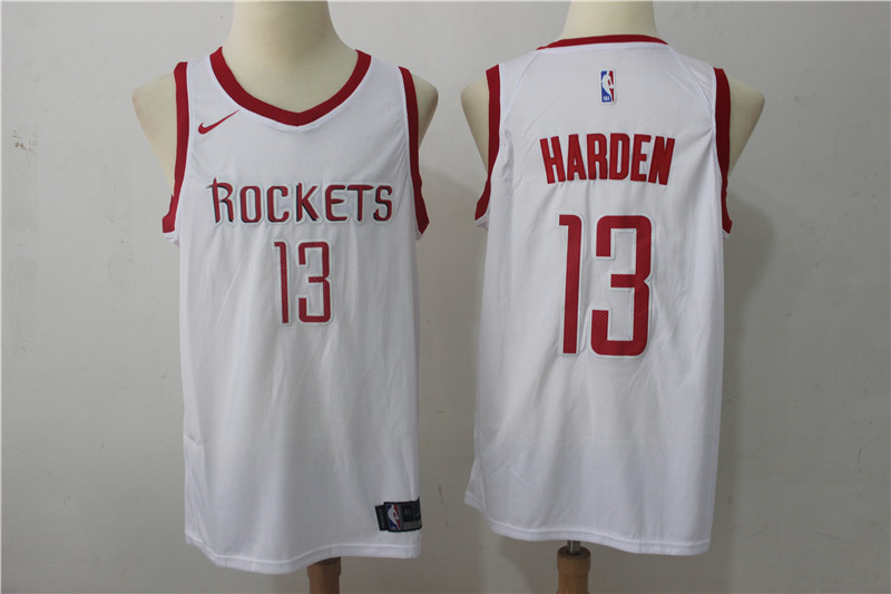 Rockets 13 James Harden White Nike Swingman Jersey