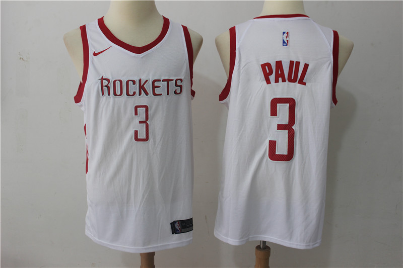 Rockets 3 Chris Paul White Nike Swingman Jersey