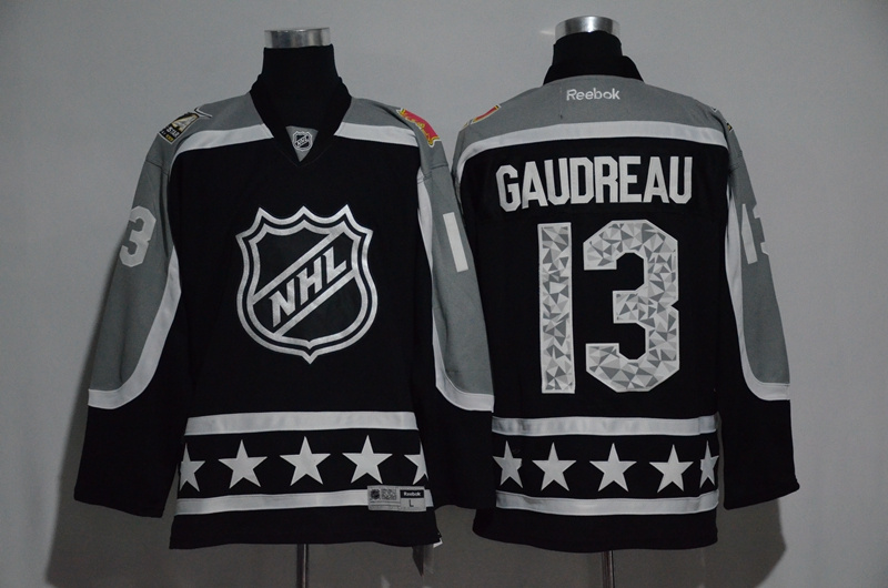 Flames 13 Johnny Gaudreau Black Pacific Division 2017 NHL All-Star Game Premier Jersey