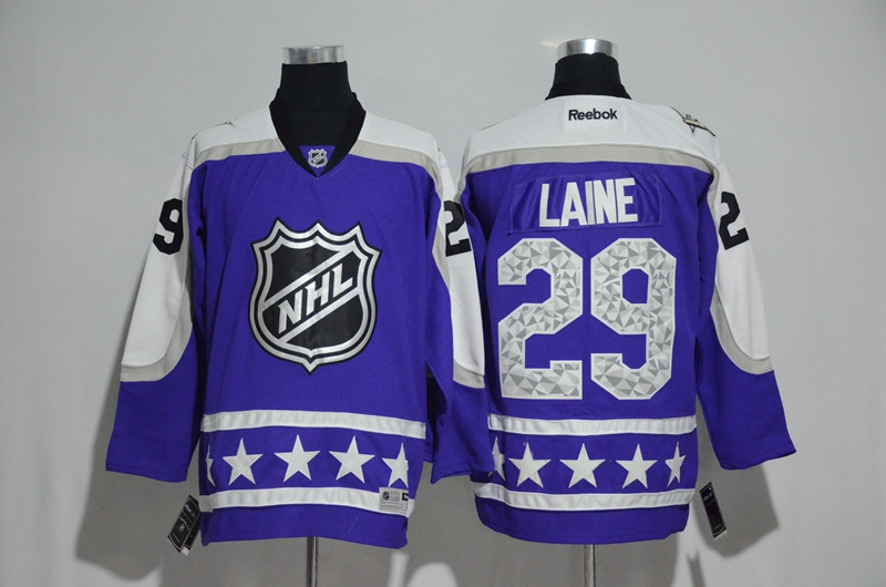 Jets 29 Patrik Laine Purple Central Division 2017 NHL All-Star Game Premier Jersey