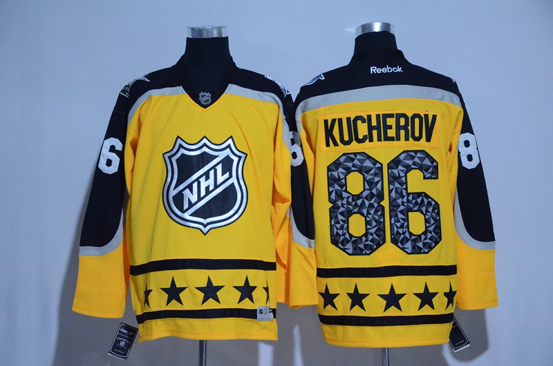 Lightning 86 Nikita Kucherov Yellow Atlantic Division 2017 NHL All-Star Game Premier Jersey