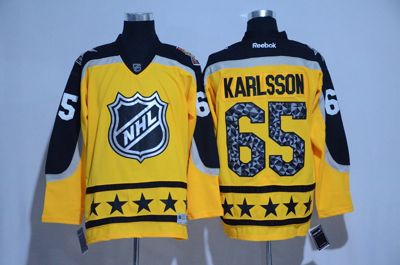 Senators 65 Erik Karlsson Yellow Atlantic Division 2017 NHL All-Star Game Premier Jersey