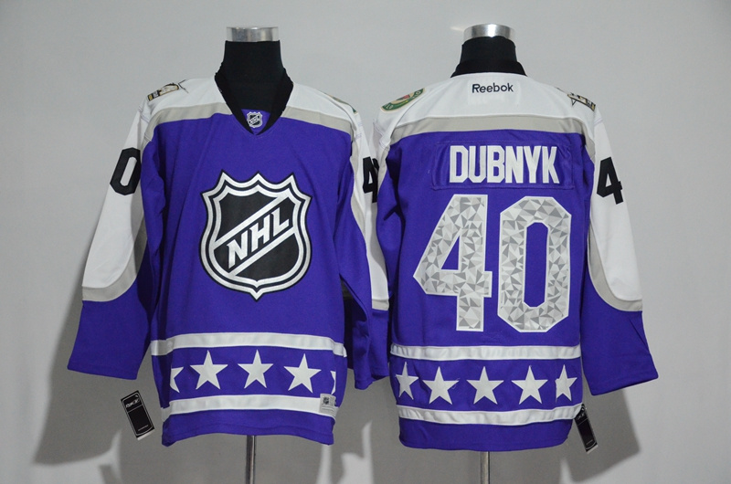 Wild 40 Devan Dubnyk Purple Central Division 2017 NHL All-Star Game Premier Jersey