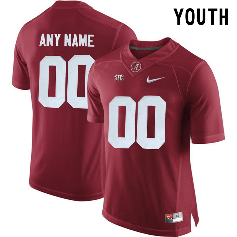 Alabama Crimson Tide Red Youth Customized College Jersey