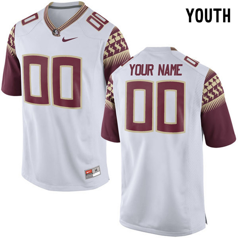 Florida State Seminoles White Youth Customized College Jersey