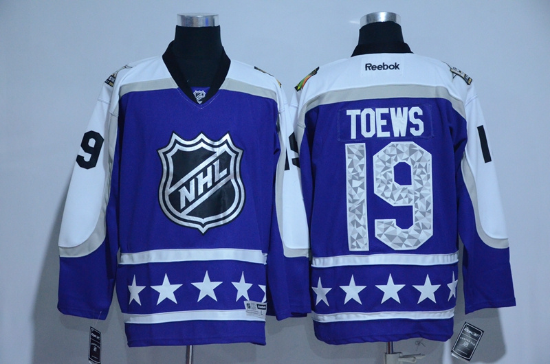 Blackhawks 19 Jonathan Toews Purple Central Division 2017 NHL All-Star Game Premier Jersey