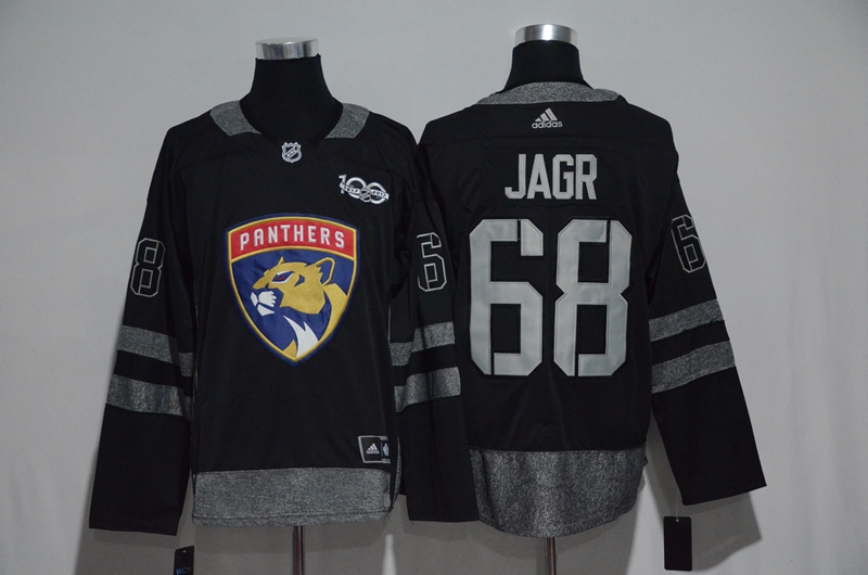 Panthers 68 Jaromir Jagr Black 1917-2017 100th Anniversary Adidas Jersey