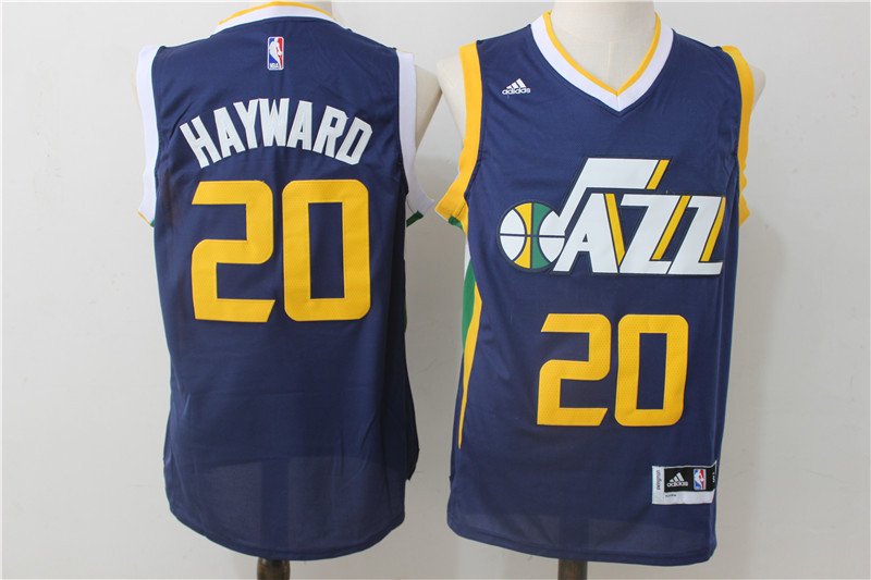 Jazz 20 Gordon Hayward Navy Swingman Jersey