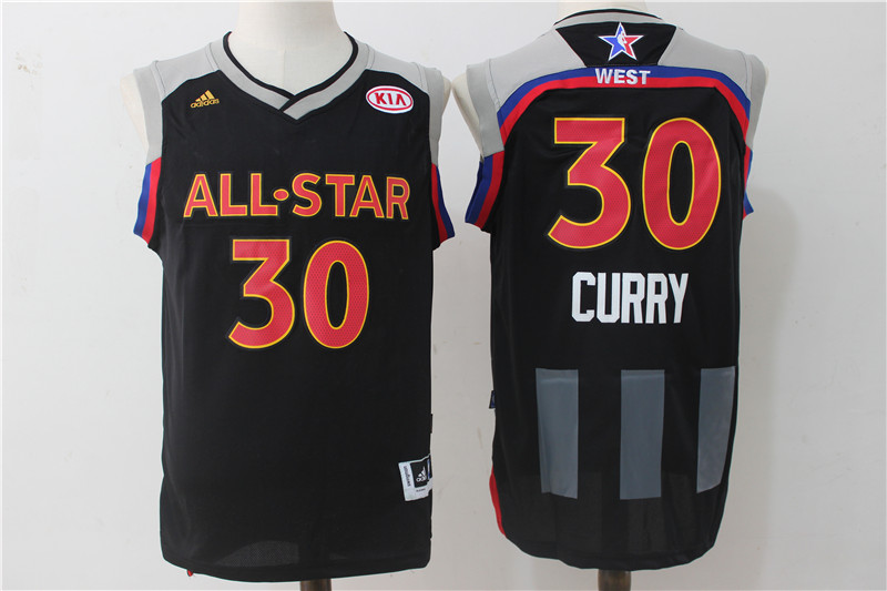 Warriors 30 Stephen Curry Charcoal 2017 NBA All-Star Game Swingman Jersey