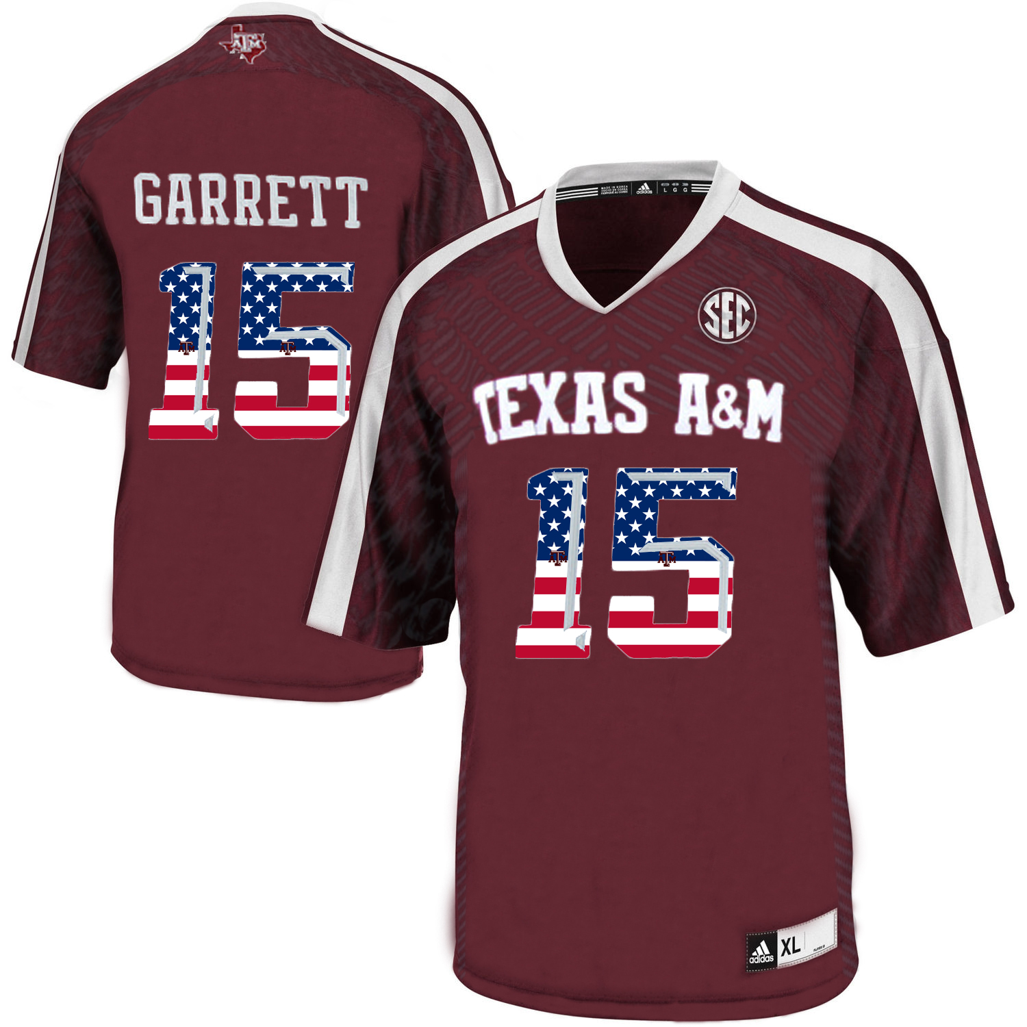 Texas A&M Aggies 15 Myles Garrett Red College Football Jersey