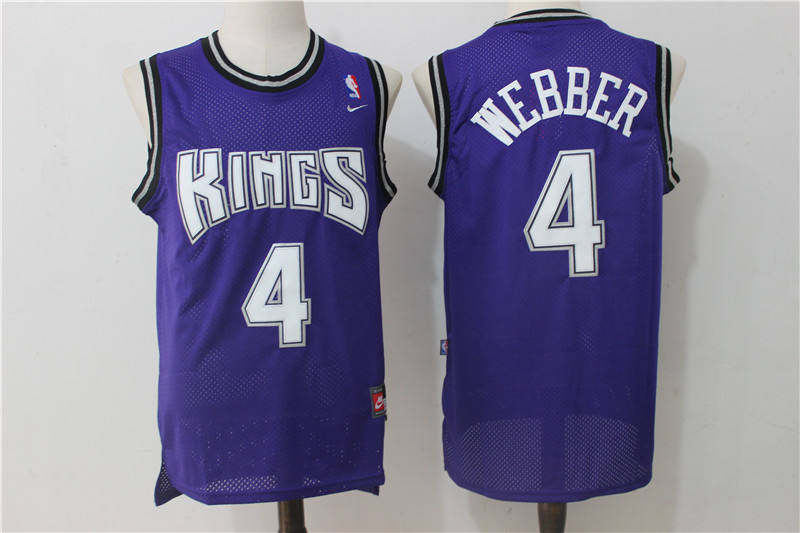 Kings 4 Chris Webber Purple Nike Jersey