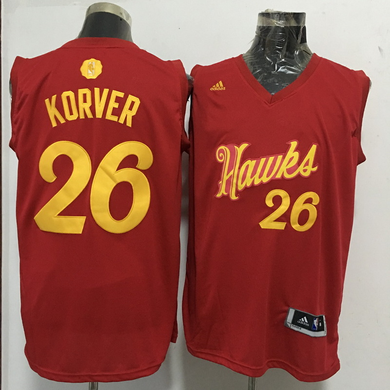 Hawks 26 Kyle Korver Red 2016 Christmas Day Swingman Jersey