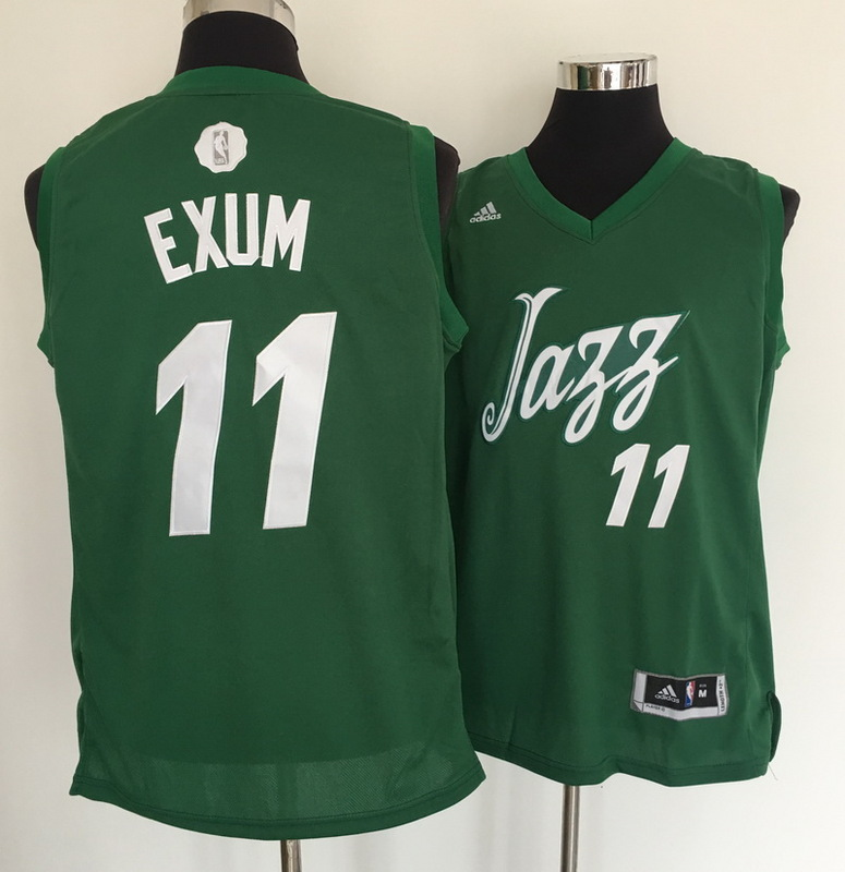 Jazz 11 Dante Exum Green 2016 Christmas Day Swingman Jersey