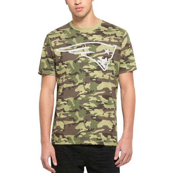 New England Patriots Fresh Team Logo Camo Men's Short Sleeve T-Shirt