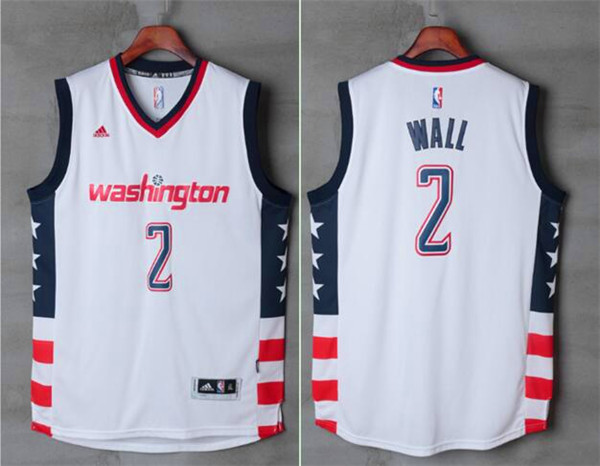 Wizards 2 John Wall White Swingman Jersey