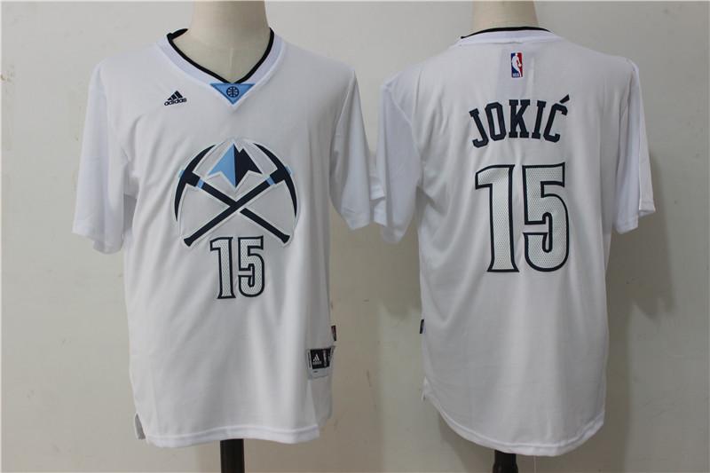 Nuggets 15 Nikola Jokic White Pride Swingman Jersey