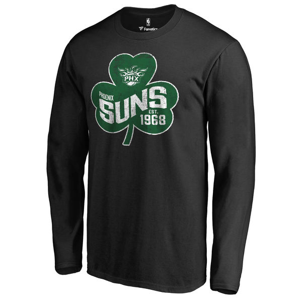 Phoenix Suns Fanatics Branded Black Big & Tall St. Patrick's Day Paddy's Pride Long Sleeve T-Shirt
