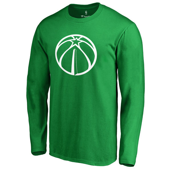 Washington Wizards Fanatics Branded Kelly Green St. Patrick's Day White Logo Long Sleeve T-Shirt