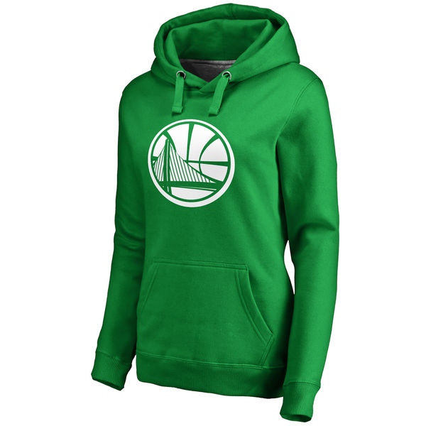 Golden State Warriors Fanatics Branded Women's Kelly Green St. Patrick's Day White Logo Pullover Hoodie