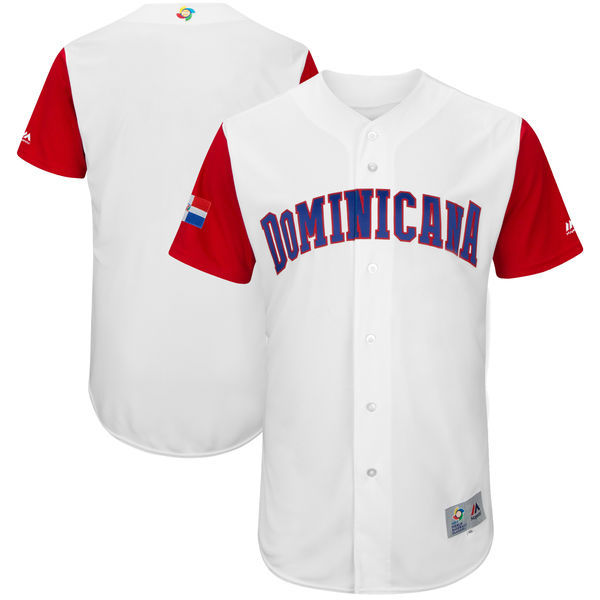 Men's Dominican Republic Baseball Majestic White 2017 World Baseball Classic Authentic Team Jersey