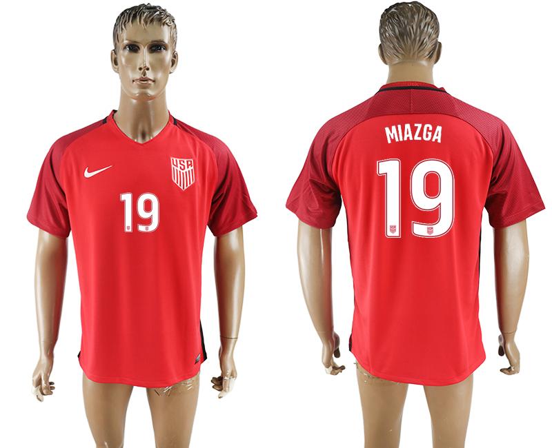 2017-18 USA 19 MIAZGA Home Thailand Soccer Jersey