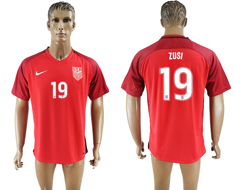 2017-18 USA 19 ZUSI Home Thailand Soccer Jersey