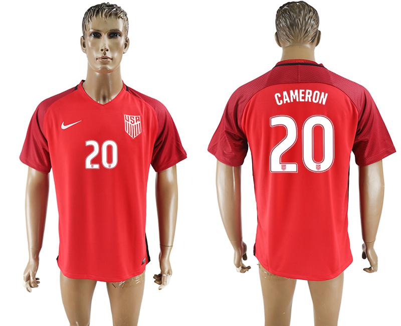 2017-18 USA 20 CAMERON Home Thailand Soccer Jersey