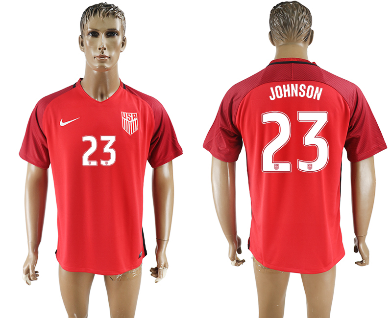 2017-18 USA 23 JOHNSON Home Thailand Soccer Jersey