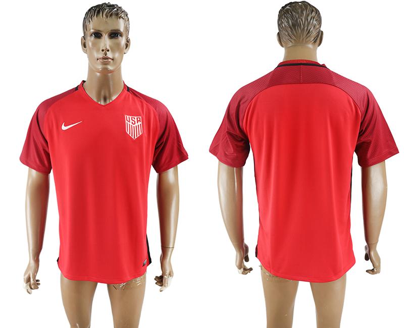 2017-18 USA Home Thailand Soccer Jersey