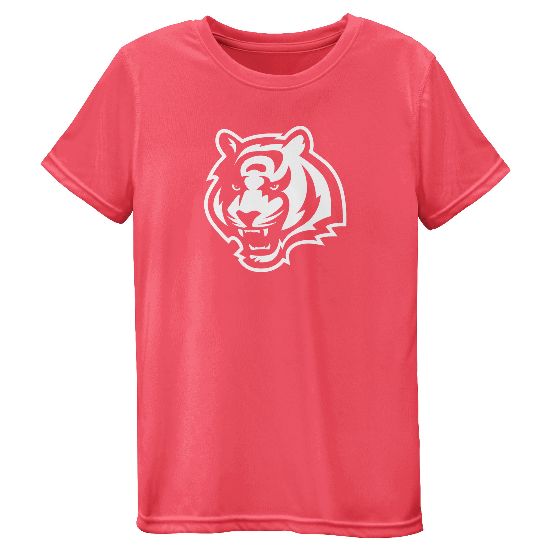 Cincinnati Bengals Girls Youth Pink Neon Logo T-Shirt
