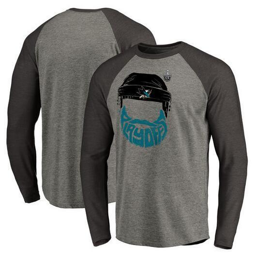 Sharks 2017 Stanley Cup Playoffs Gray Men's Long Sleeve T-Shirt