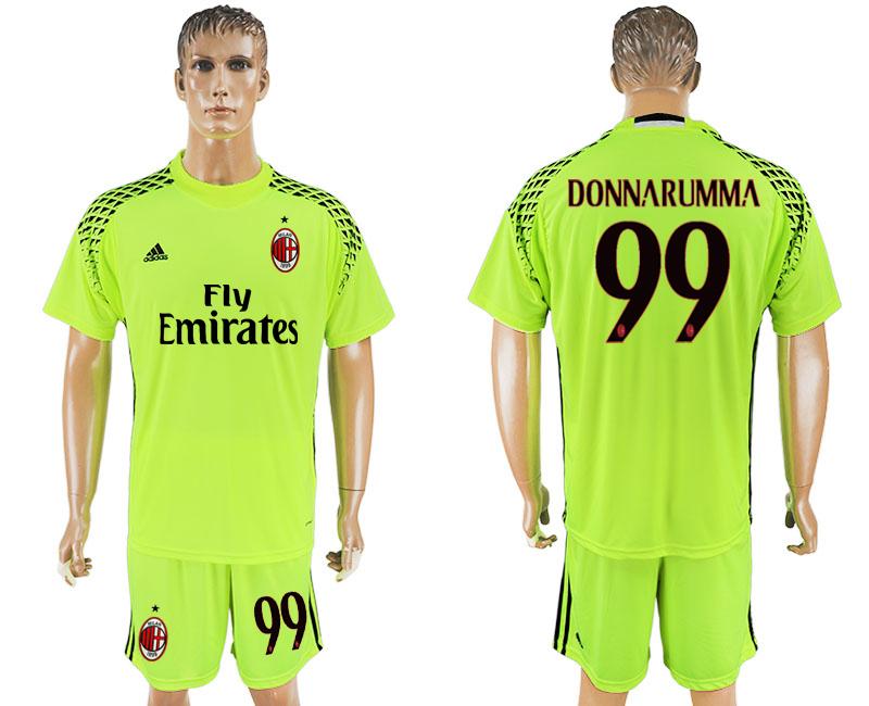2016-17 AC Milan 99 DONNARUMMA Fluorescent Green Goalkeeper Soccer Jersey