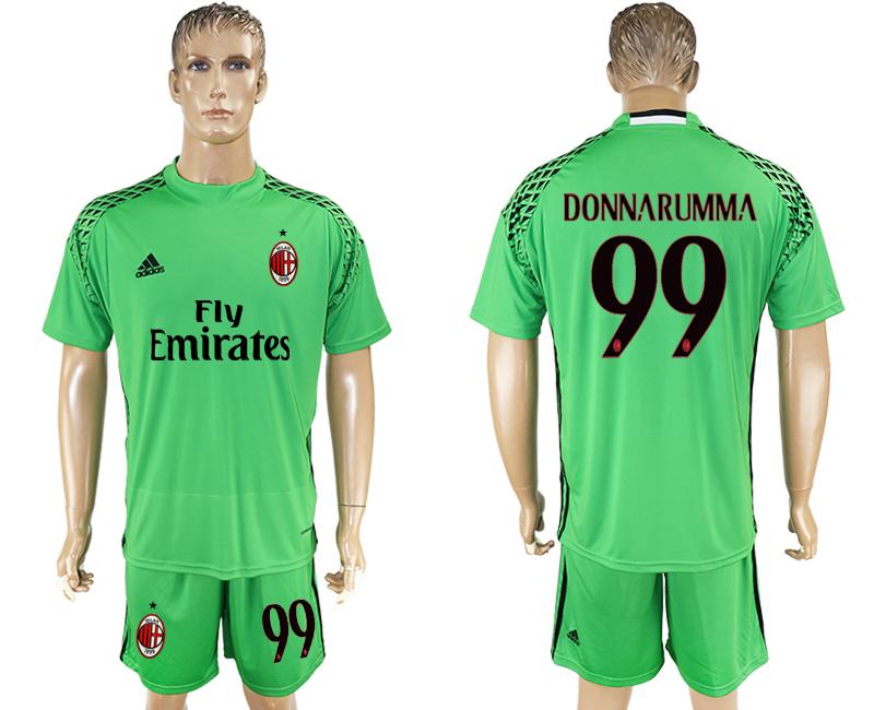 2016-17 AC Milan 99 DONNARUMMA Green Goalkeeper Soccer Jersey