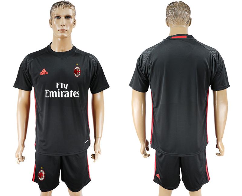 2016-17 AC Milan Black Goalkeeper Soccer Jersey