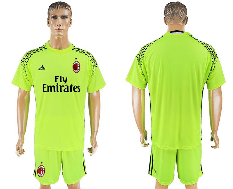 2016-17 AC Milan Fluorescent Green Goalkeeper Soccer Jersey