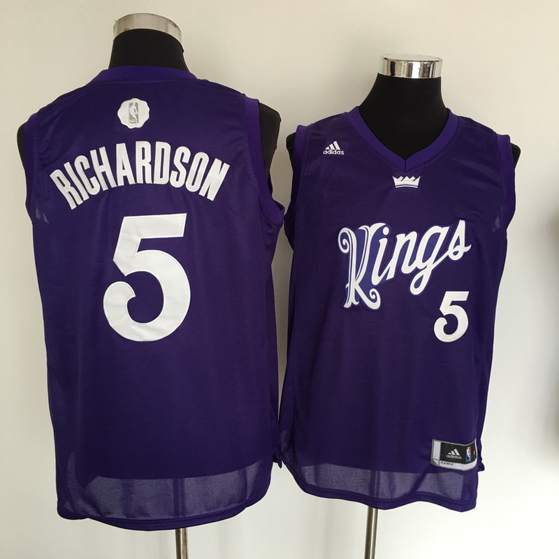 Kings 5 Malachi Richardson Purple 2016 Christmas Day Swingman Jersey