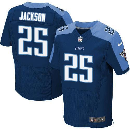 Nike Titans 25 Adoree' Jackson Navy Elite Jersey