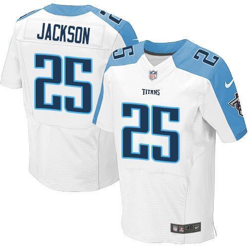 Nike Titans 25 Adoree' Jackson White Elite Jersey
