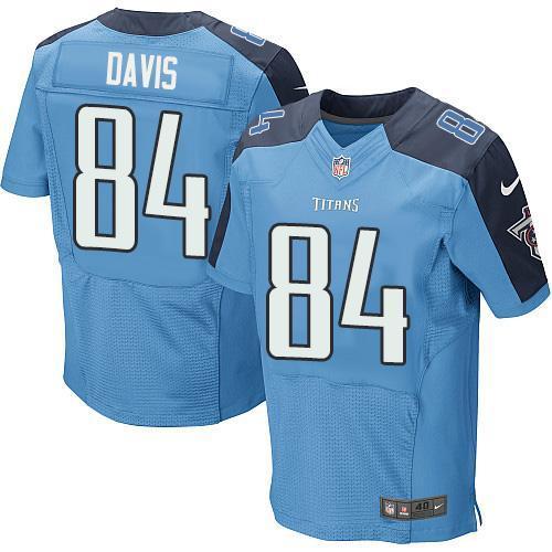 Nike Titans 84 Corey Davis Light Blue Elite Jersey