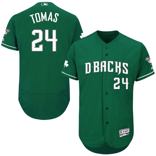 Diamondbacks 24 Yasmany Tomas Green Celtic Flexbase Jersey