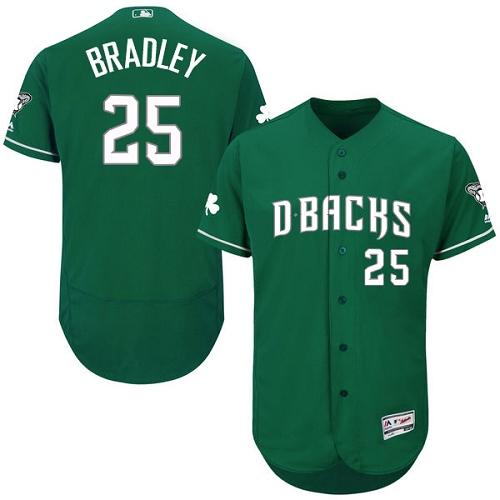 Diamondbacks 25 Archie Bradley Green Celtic Flexbase Jersey