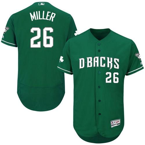 Diamondbacks 26 Shelby Miller Green Celtic Flexbase Jersey