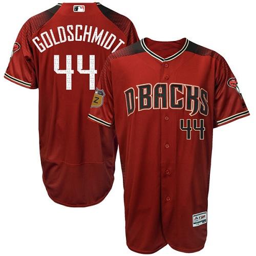 Diamondbacks 44 Paul Goldschmidt Red Brick Flexbase Jersey