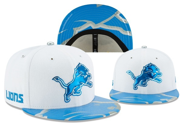 Lions Team Logo White Adjustable Hat