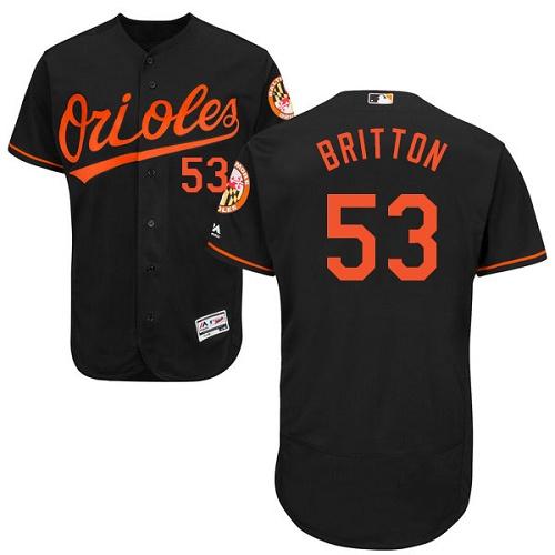 Orioles 53 Zach Britton Black Flexbase Jersey