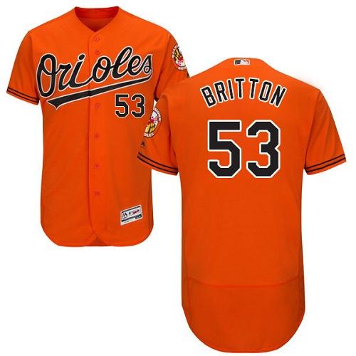 Orioles 53 Zach Britton Orange Flexbase Jersey