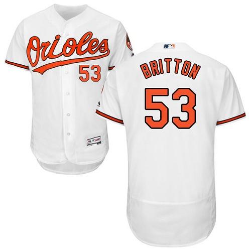Orioles 53 Zach Britton White Flexbase Jersey