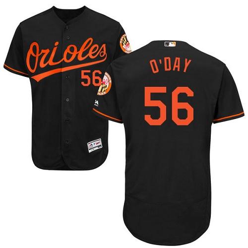 Orioles 56 Darren O'Day Black Flexbase Jersey