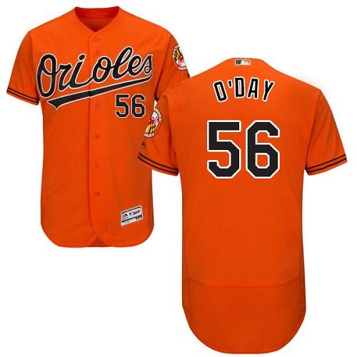 Orioles 56 Darren O'Day Orange Flexbase Jersey