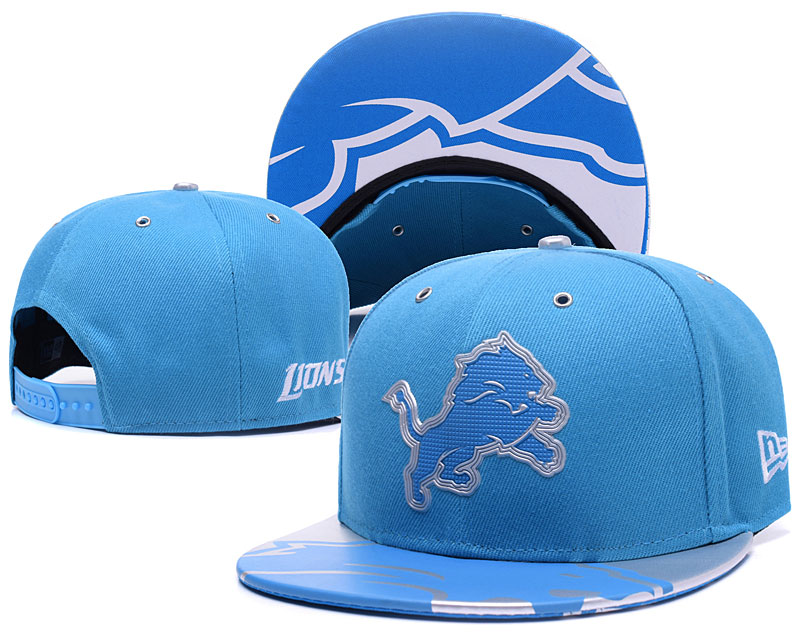 Lions Team Logo Blue Adjustable Hat YS
